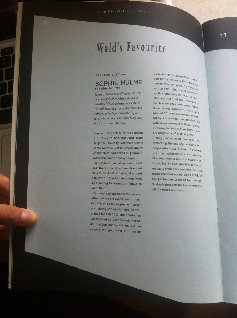 article in WALD magazine