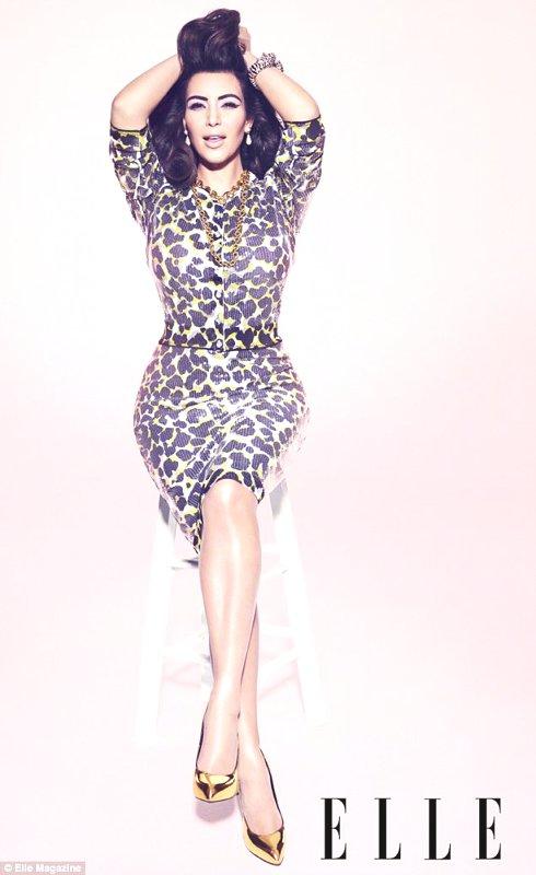 Kim Kardashian in Elle-Editorial by Nicola Formichetti