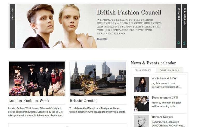 BCF Homepage Screenshot